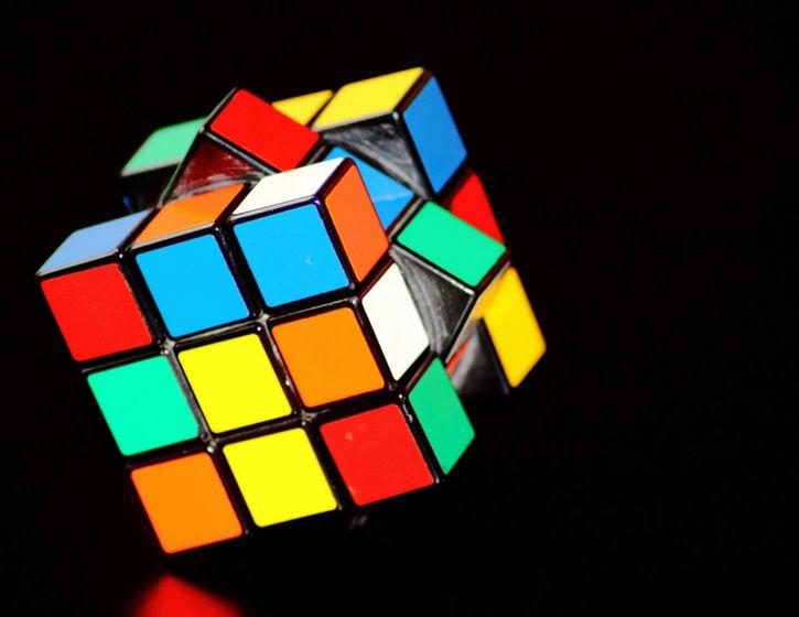 A rubik cube