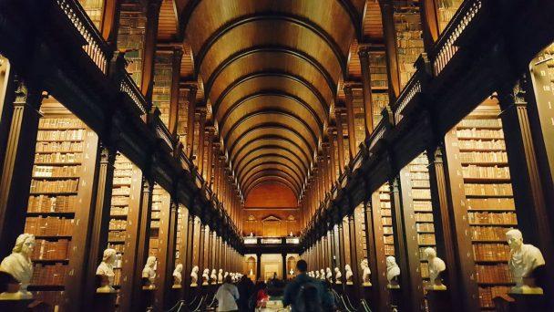 Old library in Dublin Unsplash