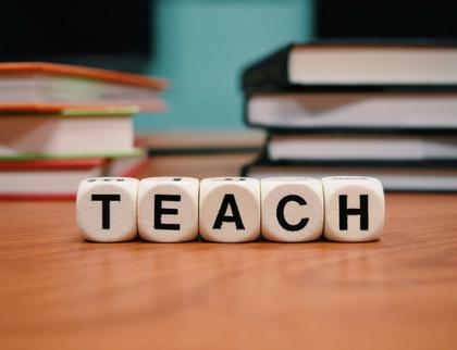 Alphabet dices spelling teach