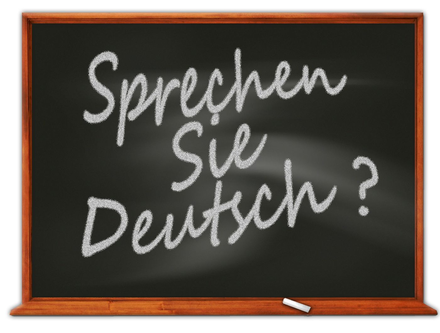 Sprechen Sie Deutsch written on a blackboard
