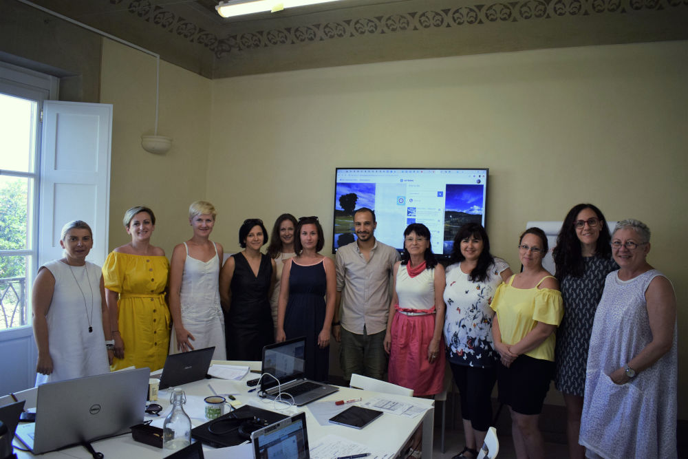 The last day of our course in Florence. Thanks teacher Iacopo Falciani.