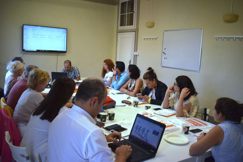 Iacopo and teachers in Florence, Italy