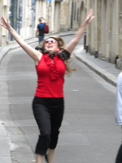 Marisol after her TESOL Drama workshop in Paris, France, 2013 - Teachers are Artists