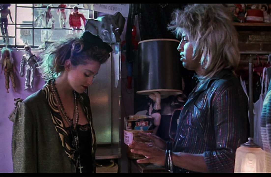Madonna and José Angel Santana in a scene from the movie Desperately Seeking Susan
