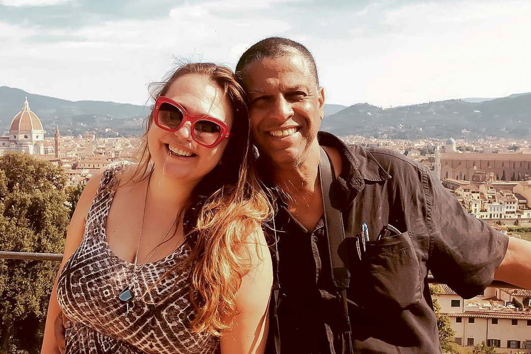 Marisol and José Angel Santana in Florence, Italy 2018