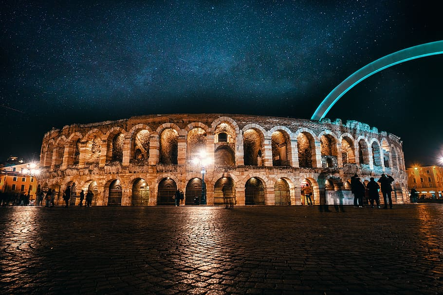 Verona's Arena by night